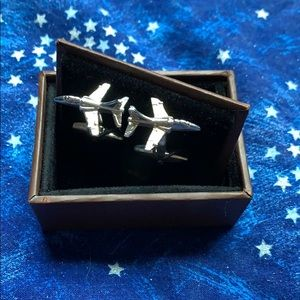 New In Box Fighter Jet Cufflinks